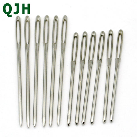 Hot 12PCs Stainless Steel Knitting Needles Needlework Sewing Tool Needle Arts & Crafts Hand Stitches Sewing Accessories 7cm 6cm - thefashionique