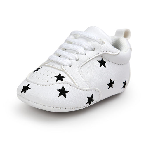 Hot Multiple Star Baby Girl Shoes first walkers Lace-up Fashion Baby Shoes For 0-18 Months - thefashionique