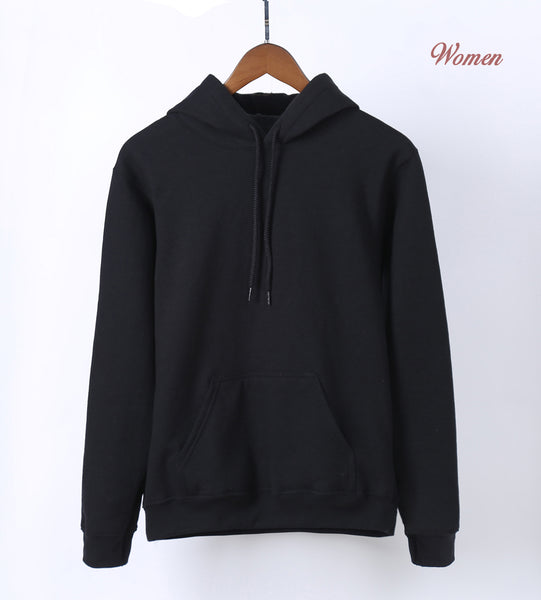 Hot Sale 2018 Spring Autumn Casual Women Hoodies Sweatshirts K-pop Solid Hoodie Kawaii Black White Gray Pink Red Blue Hoodie - thefashionique