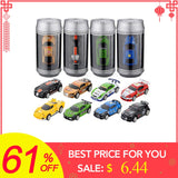 Hot Sale 8 Colors Coke Can Mini RC Car Vehicle Radio Remote Control Micro Racing Car 4 Frequencies For Kids Presents Gifts - thefashionique