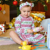 Hot Sale Baby Girl Clothes Autumn Winter Dress+Hair Strap Christmas Floral Printed Long Sleeve Cotton Dresses Newborn Casual Set - thefashionique