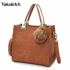 Hot Sale Suede Leather Bags Women Brand Designer Handbags High Quality Tote Women Shoulder Messenger Bags    A-56 - thefashionique