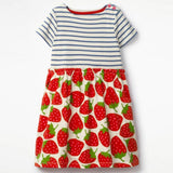 Hot Sale Summer Baby Girls Clothing Dress Cloth Embroidery A-Word  Dress Children Fashion Party Dresses Kids Brand Clothes 2018 - thefashionique