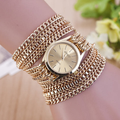 Hot Selling Bracelet Watches Women Fashion Alloy Chain Strap Gold Watches Ladies Casual Quartz Watch Relogio Feminino Ceasuri