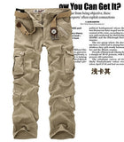 Hot sale free shipping men cargo pants camouflage  trousers military pants for man 7 colors - thefashionique