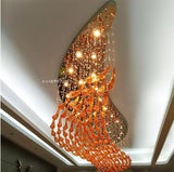 Hotel restaurant shopping mall atrium sales office sand table hotel art chandelier fish villa bird club chandelier