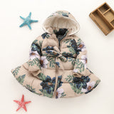 Hurave 2017 New Arrival Girls Winter Jacket Floral Thick Coats Kids Princess Warm Jackets For Kids Children Clothing - thefashionique