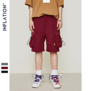 INFLATION Men's Large Side Pocket Casual Shorts Mens Hip hop Sportswear Shorts Men Fashion Tactical Shorts 9313S - thefashionique
