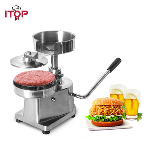 ITOP 100mm 130mm 150mm Hamburger Press Burger Forming Machine Hamburger Patty Maker Manual Hamburger Making Machine