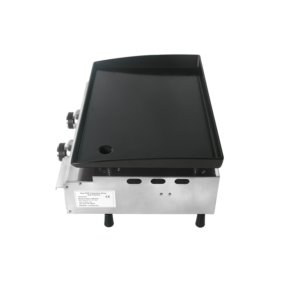 ITOP 2 Burners Gas BBQ Grills LPG Plancha Beef Pork Chicken Cooking Hot Plate Non-stick Barbecue Tools Grills For Outdoor
