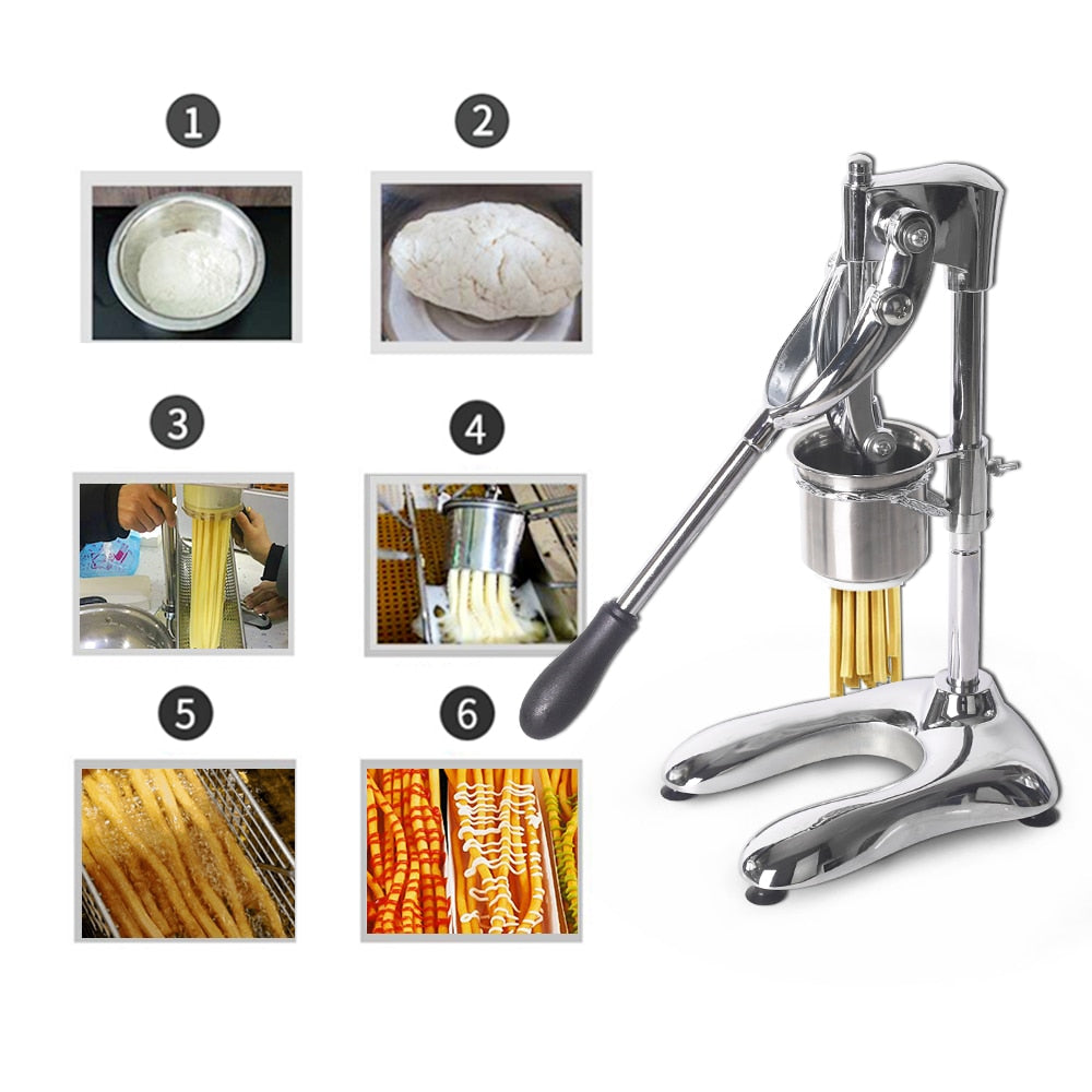 ITOP Commercial Long 30cm Potato Ships Squeezers Machine French Manual Fries Cutters American Fried Potato Chip