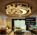 IWHD Bedroom Crystal Ceiling Lights For Living Room Moon shaped Modern Ceiling Lamp Round Lampara Techo Home Lighting Fixtures