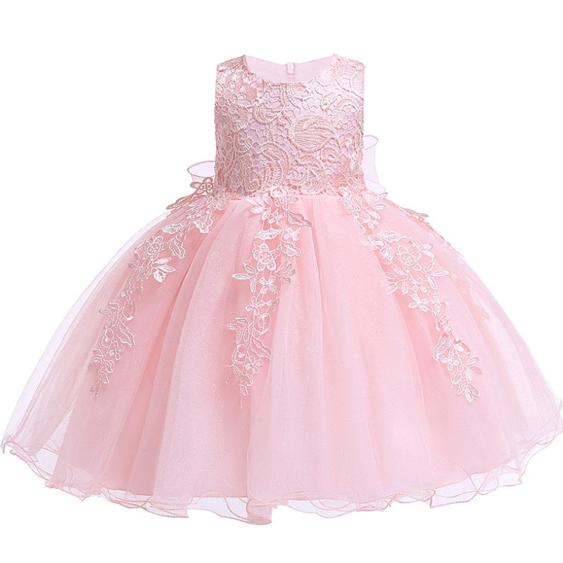 Infant Baby Girl Dress Lace Flower Baptism Dresses for Girls 1st Year Birthday Party Wedding Baby Cothing - thefashionique