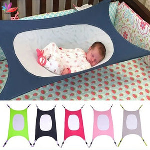 Infant Baby Hammock Newborn Kid Sleeping Bed Safe Detachable Baby Cot Crib Swing Elastic Hammock Adjustable Net Portable Travel