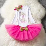 Infant Birthday Party Dresses For Kid Girls 1st Birthday Party Clothing Long sleeve Tutu Dresses Toddler Princess Party Suit - thefashionique