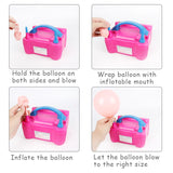 Inflatable Pump Balloon Shortens Working Time Electric High pressure Power Portable Pump Birthday Balloon Pump Inflator Balloon