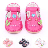 Insole 12.5-14.5cm High Quality PU Leather Flower Baby Girl Princess Shoes Kid Shoes 1-3 Years