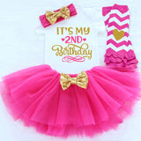 It's My First Birthday Baby Cotton Ruffle tutu Dress Baby Girls Diaper Cover Newborn Long Sleeves Toddler Baby Winter Clothes - thefashionique
