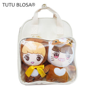 Ita Bag PVC Clear Backpack Japanese Transparent Backpack Shoulder Bag for Teenage Girls Lovely ItaBag Mini Backpacks for Women - thefashionique