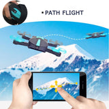 JD JY018 FPV Radio R/C Portable Quadcopter 720P Camera WiFi Foldable Selfie Pocket Drone VS E58 Remote Control Flycam Helicopter - thefashionique