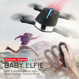 JJRC BABY ELFIE RC Selfie Drone with HD FPV Quadcopter Mini Pocket Foldable RC Drones Helicopter  Upgraded H37 VS H36 H31 H37 - thefashionique