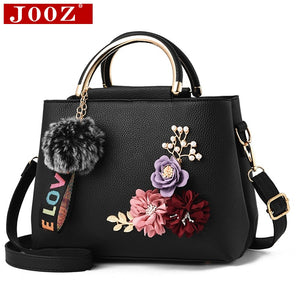 JOOZ 2018 color flowers shell Women's tote Leather Clutch Bag small Ladies Handbags Brand Women Messenger Bags Sac A Main Femme - thefashionique