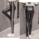 JUJULAND 2018 Free dropshipping Women Hot Sexy Black Wet Look Faux Leather Leggings Slim Shiny Pants Plus size S M L XL XXL - thefashionique