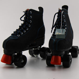 Japy Artificial Leather Roller Skates Double Line Skates Women Men Adult Two Line Skating Shoes Patines With Black PU 4 Wheels