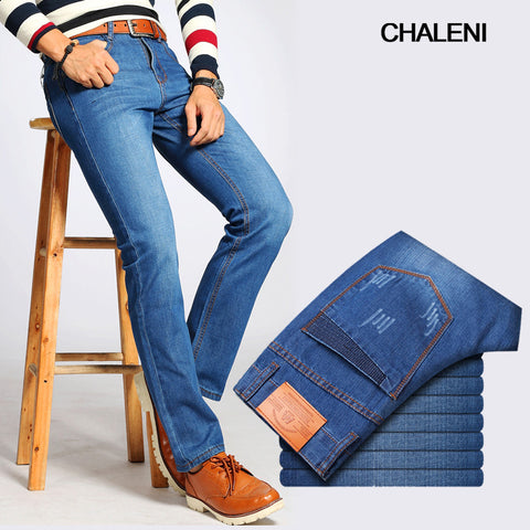 Jeans men's straight men's trousers winter men's long pants loose work to work cattle wear thicker models QC-A126-620