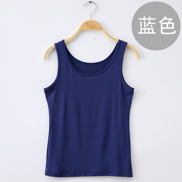 Jeseca Solid Slim Women tank Tops Spring Summer Fitness Tank Tops Women Sleeveless Round Neck Loose T Shirt Ladies Vest Singlets - thefashionique
