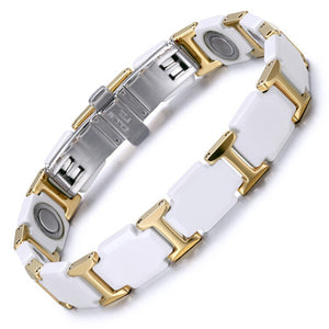 Jewelry Ceramic Tungsten Steel Bracelet Magnet Bracelet Valentine's Day Couple Trend Bracelet - thefashionique