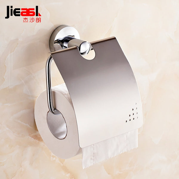 Jieshalang Copper Towel Rack Sanitary Toilet Paper Holder for Toilet Paper Rolls of Paper Toilet Roll Holder Creative Frame 5651 - thefashionique