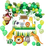 Jungle Party Animal Foil Balloons Zoo Animal Jungle Theme Birthday Party Decoration Kids Birthday Balloons Safari Party Decor - thefashionique