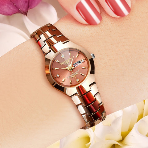 KINGNUOS Ceramic Lover Couple Watch Women Men 2018 Quartz Wristwatch Ladies Clock  relogio feminino KG-186