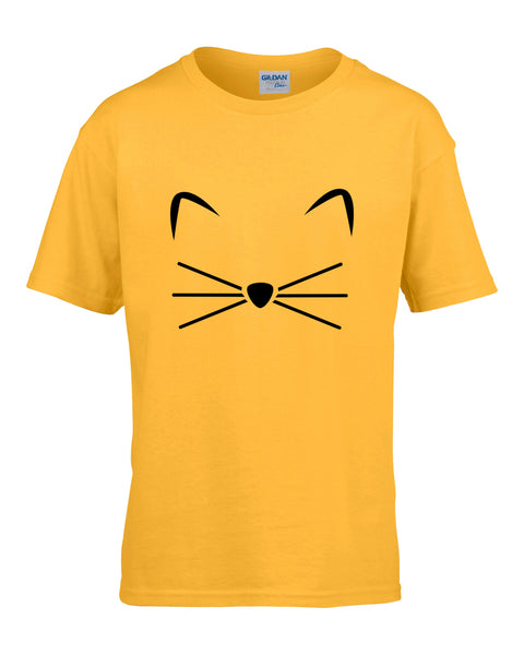 KITTY KITTEN Meow Print kids T shirt Cotton Casual Funny Shirt For girls tops tee hipster streetwear short sleeve casual t-shirt - thefashionique