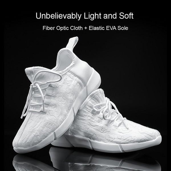 KRIATIV Luminous Sneakers Glowing Light Up Shoes for Kids White LED Sneakers Children Flashing Shoes with Light for Adult&Kid - thefashionique