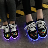 KRIATIV USB Charger children led shoes for Boy&Girl glowing sneakers Kids Light Up shoes led slippers Casual Luminous Sneakers - thefashionique