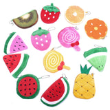 Kawaii Fruits Plush Coin Purse Children Zip Small Change Purse Wallet Women Pouch Money Bag Girl Mini Short Coin Holder Wallet - thefashionique