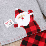 Kids Baby Boy Girl 0-18M First Christmas Clothes Romper Pants Hat Warm Outfit Set - thefashionique