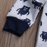 Kids Baby Boys Girls Warm Infant Romper Jumpsuit Cute Bear Gray Hooded Cotton Clothes Outfits Autumn - thefashionique