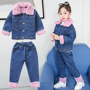 Kids Clothes Boutique    Girls Boutique Outfits Cow Outfit Winter cuhk children's children and wool two-piece cowboy - thefashionique