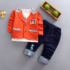 Kids Clothes Thanksgiving Outfits for Boys Christmas Suit Korean Style Children 3pieces/set Costume My First Christmas Boy - thefashionique