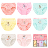 Kids Panty 4 Pack for Girls Underwear Cotton Kids Boyshort Toddler Panties Little Girls Briefs Cartoon Panties Children Clothing