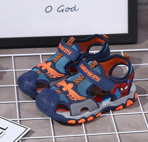 Kids Summer Sandals Spider-Man Children Flats Breathable Anti-slippery Boys Girls Closed Toe Slippers Sandalias Fashion Shoes - thefashionique