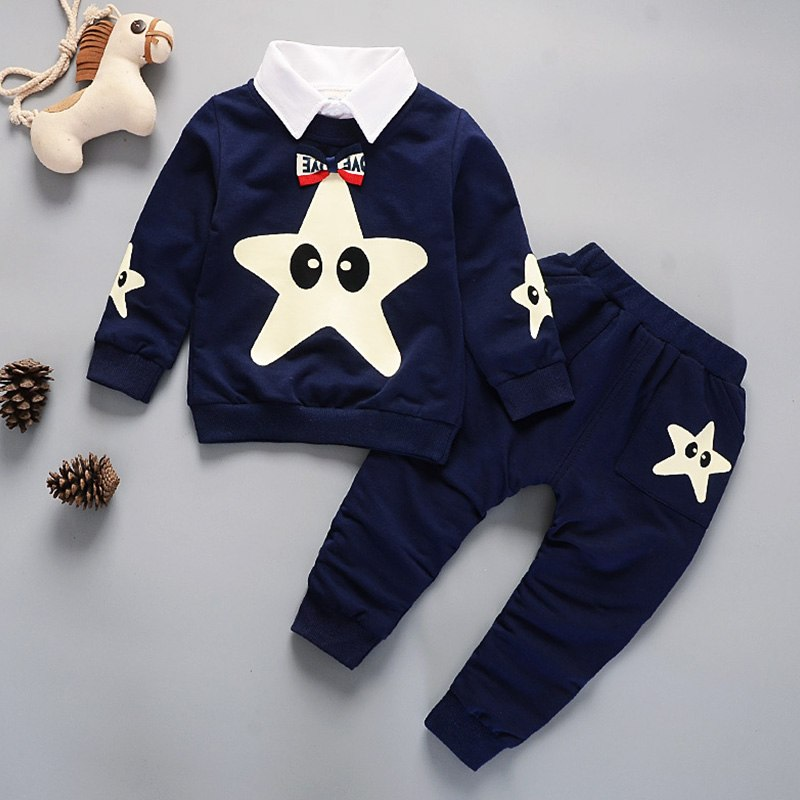 Kids Winter Clothes Starfish Embroidery T-shirt Set Comfortable Warm Boys Children Clothing Girl Winter Clothes For Kids - thefashionique