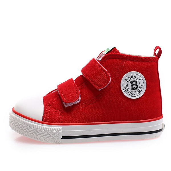 Kids shoes for girl children canvas shoes boys sneakers 2017 Spring autumn girls shoes White High Solid fashion Children shoes - thefashionique