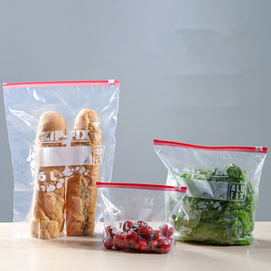 Kitchen Food Storage Bag Reusable Ziplock Leakproof Bag Vacuum Sealed Bag Food Containers Kitchen Organizer Accessories BPA Free - thefashionique