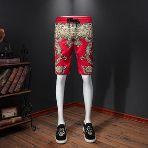 Korte Broek Mannen Short Homme 2020 Summer Board Shorts Printed Beach Short Trunks Board Short Loose Drawstring Casual Shorts