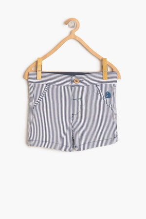 Koton kids Blue Baby Boy Pocket Detail Shorts - thefashionique