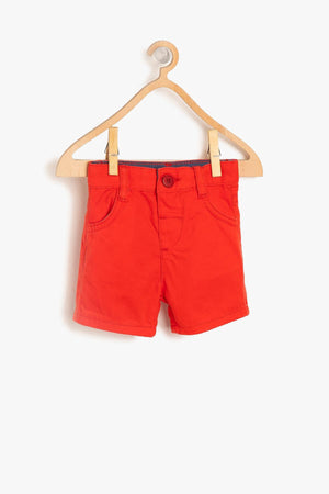 Koton kids Red Male Baby Pocket Detail Shorts - thefashionique